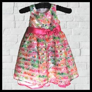 Jessica Ann Little Girls Summer Party Dress Sz 5